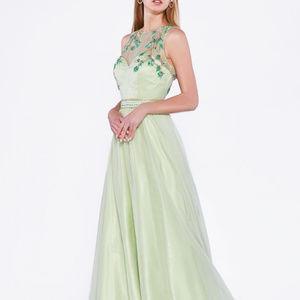 A-Line Shape Long Evening Prom Dress CDC240